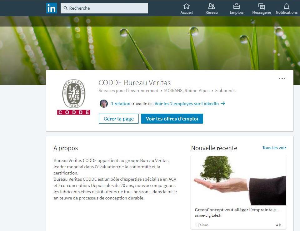 Visuel Page LinkedIn CODDE