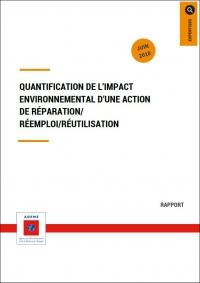 Quantification de l'impact environnemental d'une action de réparation, réemploi réutilisation – Etienne 2018